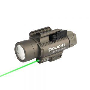 Svetlo na zbraň Olight BALDR Pro 1350 lm – Desert zelený laser