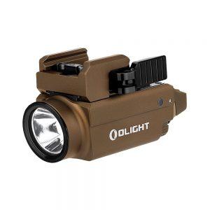 Svetlo na zbraň Olight Baldr S 800 lm Desert Tan – zelený laser